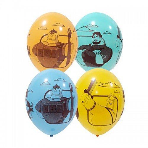 Шарики цветные Три богатыря в подарок Москва