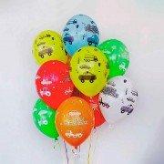 """Воздушные шары для мальчика на день рождения """"Машинки"""""""