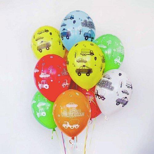 Воздушные шарики с машинками для мальчика