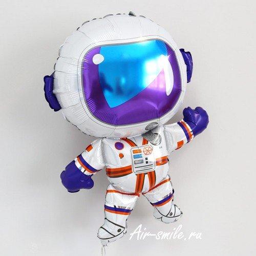Шар космонавт фольгированный в скафандре с гелием