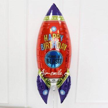 Фольгированный шар ракета 3д с гелием