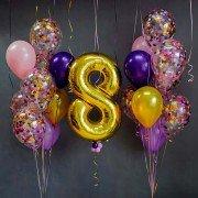 """Воздушные шары на 8 марта """"Праздничный конфетти"""""""