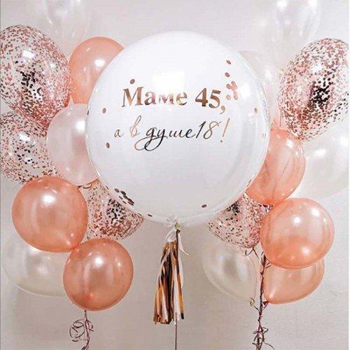 Воздушные шары в подарок маме