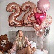 """Набор шаров для девушки на 22 года """"Нежный цвет"""""""