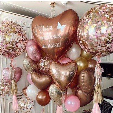 Воздушные шарики в подарок маме
