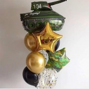 """Набор шаров на 23 февраля """"Танк Т-34"""""""