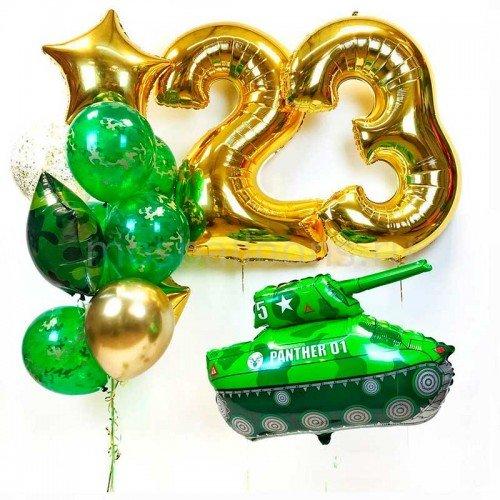 Композиция воздушных шаров на 23 февраля