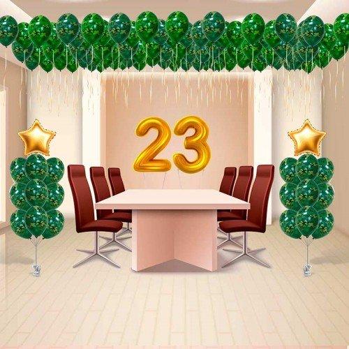 Украшение комнаты шарами на 23 февраля сюрприз