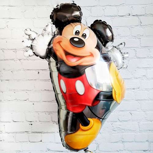 Фольгированный шар поющий Микки маус