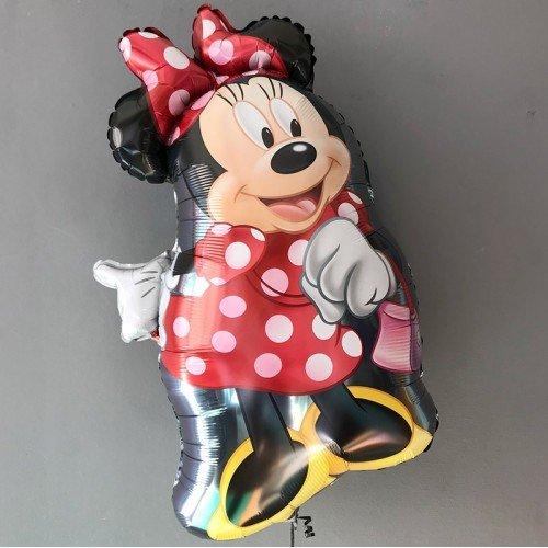 Фольгированный шар Мини маус танцующая в платье с гелием