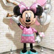 Ходячий шар Минни Маус в розовом платье