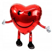 Ходячий шар сердце с ножками