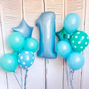 Комплект шаров в горошек на 1 год