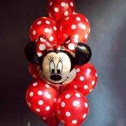 Комплект шаров в горошек с Минни Маус