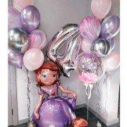 """Композиция шаров для девочки 4 года """"Принцесса"""""""