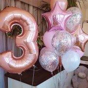 """Набор шаров для девочки на 3 года """"Нежный возраст"""""""