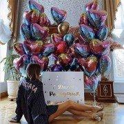 Набор воздушных шаров цвета градиент в коробке