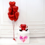 """Комплект шаров на день рождения """"Сердечный подарок"""""""