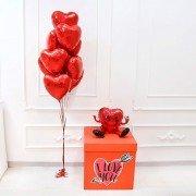 """Комплект воздушных шаров для влюбленных """"Ты в моем сердце"""""""