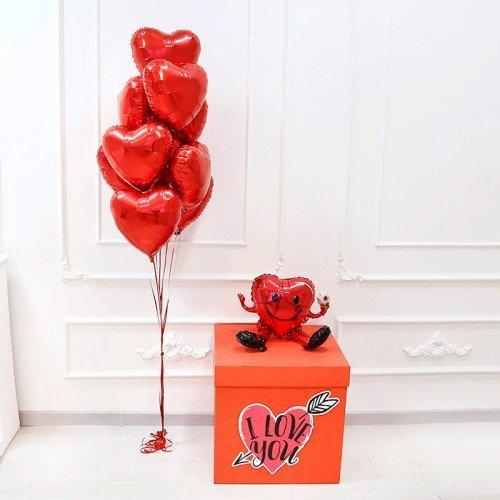 Комплект воздушных шаров для влюбленных