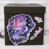 """Шары для влюбленных """"Фиолетовый микс"""" в коробке 1"""