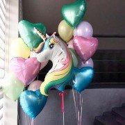 Комплект шаров для девочки с единорогом