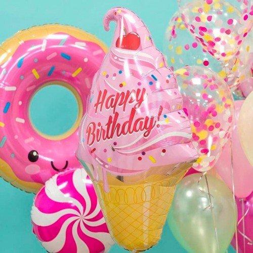Шарики на день рождения с пончиком