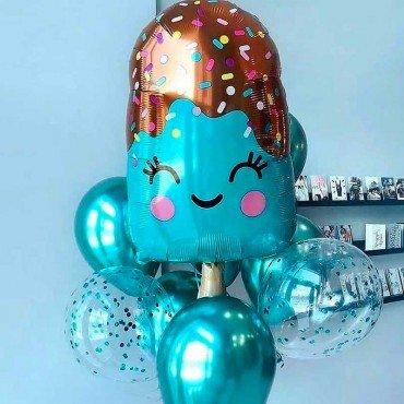Воздушные шарики с мороженым в подарок