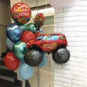 Сет шаров для мальчика с машинками
