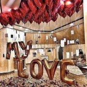 """Украшение шарами на 14 февраля """"Неземная любовь"""""""