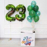 Коробка на 23 февраля с цифрами
