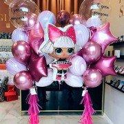 """Комплект шаров для девочки """"Кукольное настроение"""""""