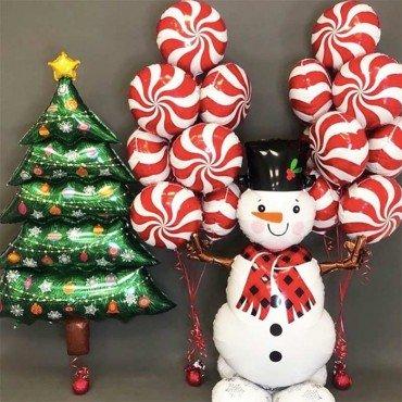 Воздушные шарики в комплекте на новый год