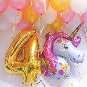 Комплект шаров с единорогом на день рождения