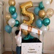 """Коробка с воздушными шарами """"Неожиданность"""""""