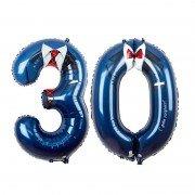 Фольгированный шар на юбилей - цифра 30 на юбилей
