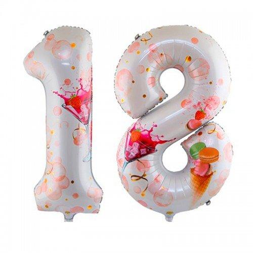 Фольгированная цифра 18 на день рождения