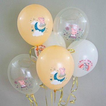 Шарики латексные на день рождения свинка Пеппа
