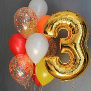 Комплект шаров для девочки на 3 года