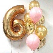 Комплект шаров для девочки на 6 лет