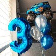 """Шары для мальчика на 3 года """"Машинка"""""""