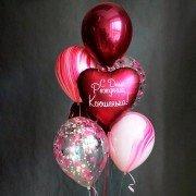Букет шаров для девушки с агатами