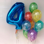 """Букет шаров на 4 года """"С днем рождения"""""""