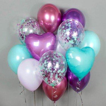 Комплект шариков с сердцами в подарок