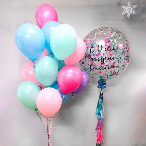 Украшение шарами воздушными детского праздника для девочки