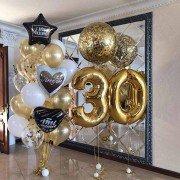 """Комплект шаров на юбилей 30 лет """"С любовью"""""""