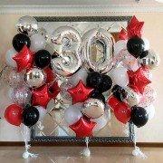 """Комплект шаров на юбилей """"Все только начинается"""" 30 лет"""