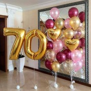 Композиция из шариков на 70-летний юбилей