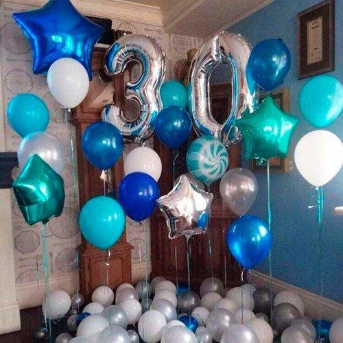 Воздушные шары в наборе на юбилей