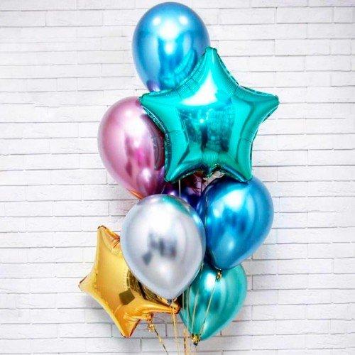 Фонтан шариков воздушных со звездами